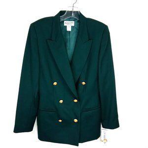 NWT Pendleton 100% Wool Double Breasted Blazer 8